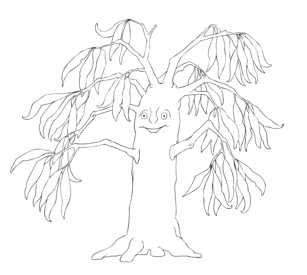 Breanna The Gum Tree sketch - Magical Mountains
