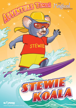 Adventure Time Stewie Koala poster