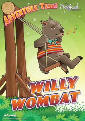 Adventure Time Willy Wombat poster