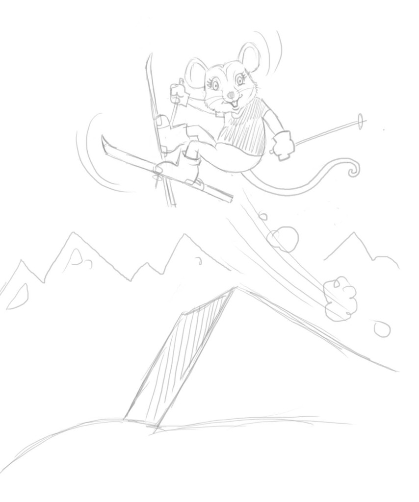 Pippy Possum sketch - Magical Mountains