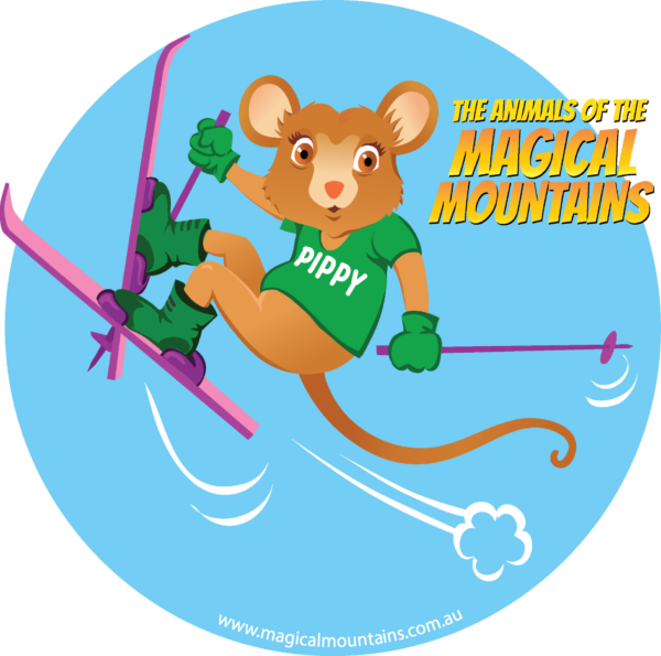 Pippy Possum circle sticker - The Animals of The Magical Mountains