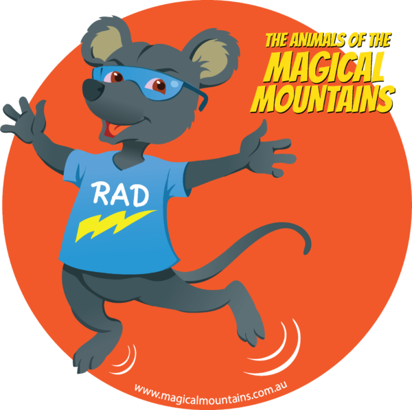 Rad Rat Jumping circle sticker - The Animals of The Magical Mountains