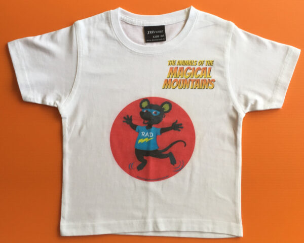 Rad Rat red circle t-shirt - The Animals of The Magical Mountains