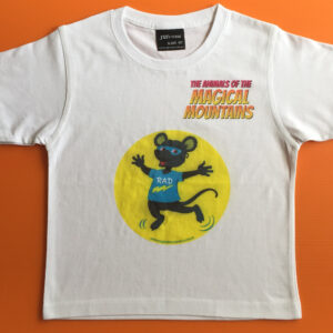 Rad Rat yellow circle t-shirt - The Animals of The Magical Mountains