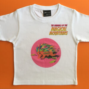 Spikey Echidna pink circle t-shirt - The Animals of The Magical Mountains