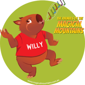 Willy Wombat sticker - The Animals of The Magical Mountains